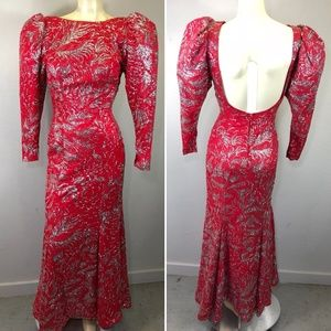 Vintage 1980s GLITTER Dress Gown Cocktail Party